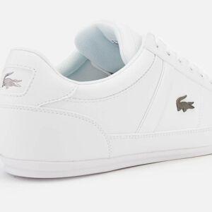 Lacoste Men's Chaymon Bl 1 Leather Low Profile Trainers - White/White - UK 10