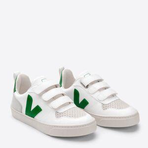 Veja Toddlers' V-10 Velcro Trainers - White/Emeraude - UK 9 Toddler