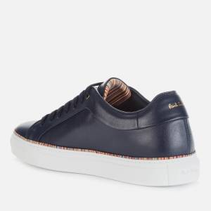 Paul Smith Men's Basso Leather Cupsole Trainers - Dark Navy/Multi Piping - UK 7