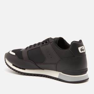 Lacoste Men's Partner Piste 01201 Running Style Trainers - Black/Grey - UK 7