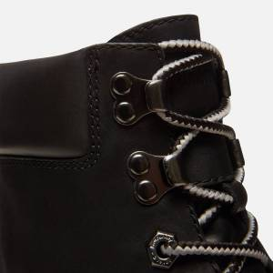 Timberland Women's London Square 6 Inch Leather Lace Up Boots - Jet Black - UK 4 - Black