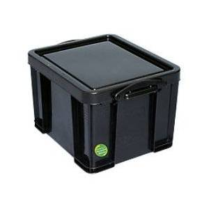 Really Useful Boxes Really Useful Black Recycled Box 35 Litre Capacity  - Black