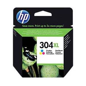 HP 304XL Original Ink Cartridge N9K07AE Cyan, Magenta, Yellow  - Cyan/ Magenta/ Yellow