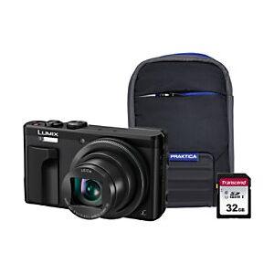 Panasonic Digital Camera Lumix DMC-TZ80 18.1 Megapixel Black + 32GB SD Card + Case  - Black