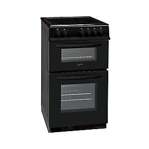 Statesman Double Oven Electric Cooker Metal EDC50B 9400 W  - Black