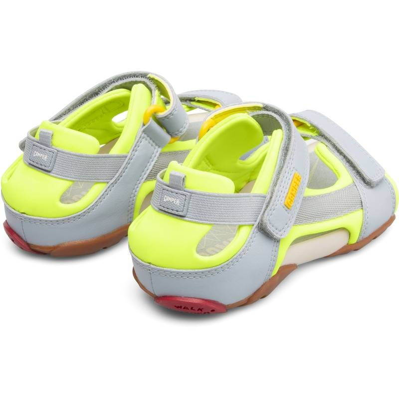 Camper Ous, Sandals Kids, Grey/Yellow, Size 38 (UK), 80188-063