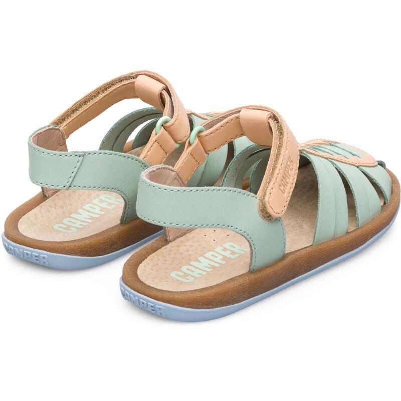 Camper Bicho, Sandals Kids, Green/Nude, Size 38 (UK), K800254-001