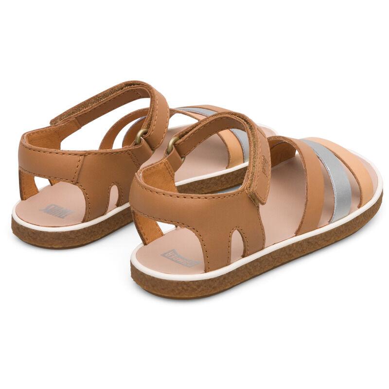 Camper Twins, Sandals Kids, Beige/Grey/Nude, Size 35 (UK), K800343-003