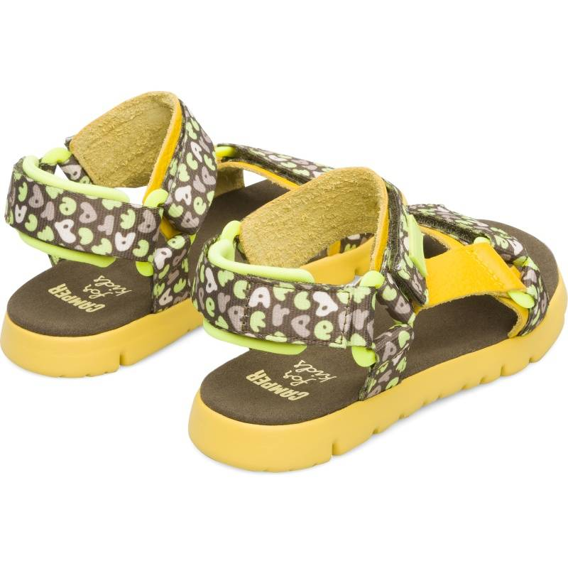 Camper Oruga, Sandals Kids, Yellow/Green/Beige, Size 34 (UK), K800346-002