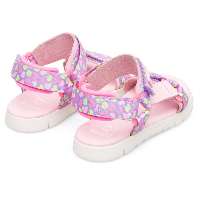 Camper Oruga, Sandals Kids, Pink/Purple/Yellow, Size 37 (UK), K800346-003