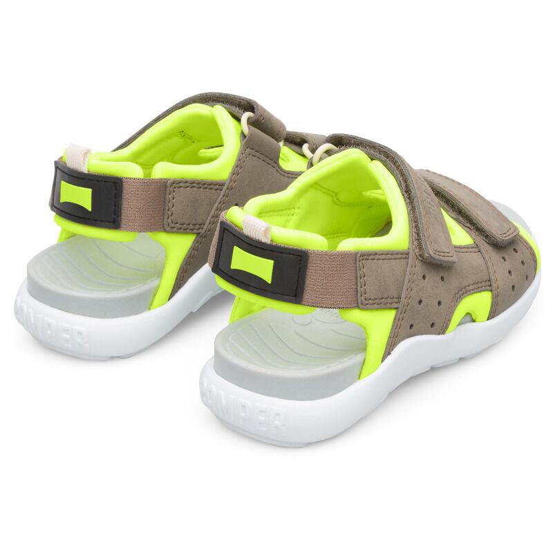 Camper Wous, Sandals Kids, Grey/Yellow, Size 34 (UK), K800360-001