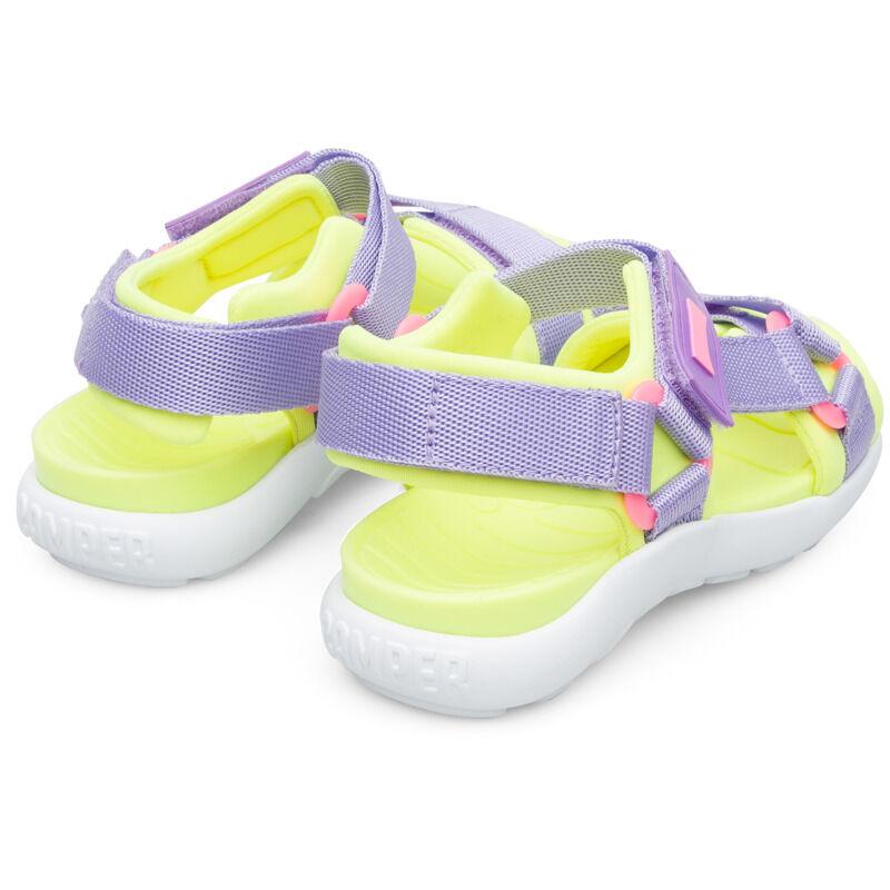 Camper Wous, Sandals Kids, Purple/Yellow, Size 34 (UK), K800360-004