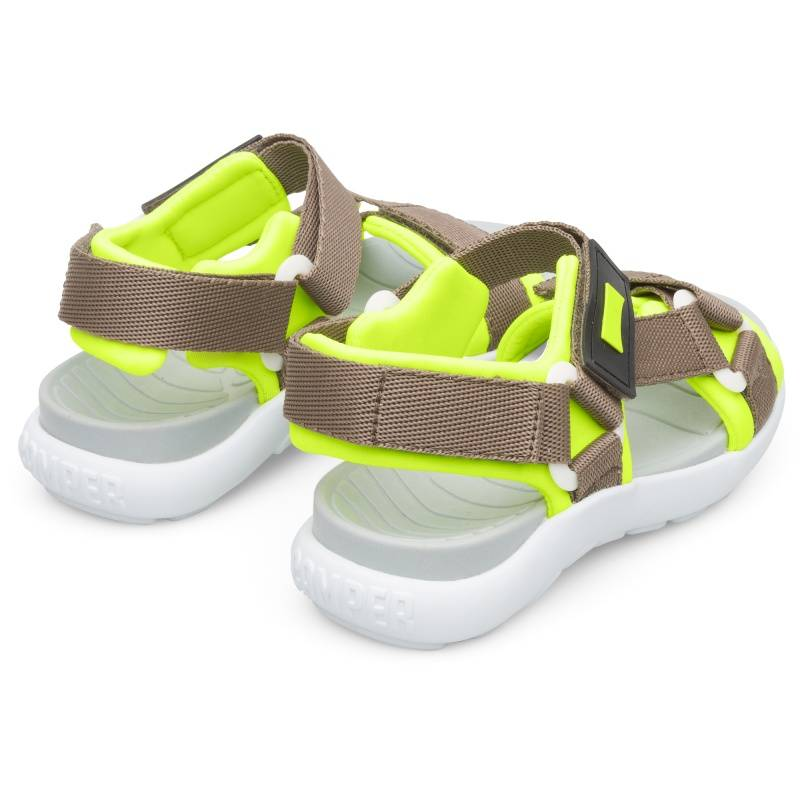Camper Wous, Sandals Kids, Grey/Yellow, Size 30 (UK), K800361-001