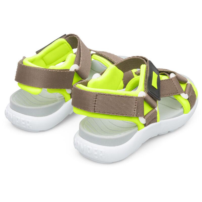 Camper Wous, Sandals Kids, Grey/Yellow, Size 31 (UK), K800361-001