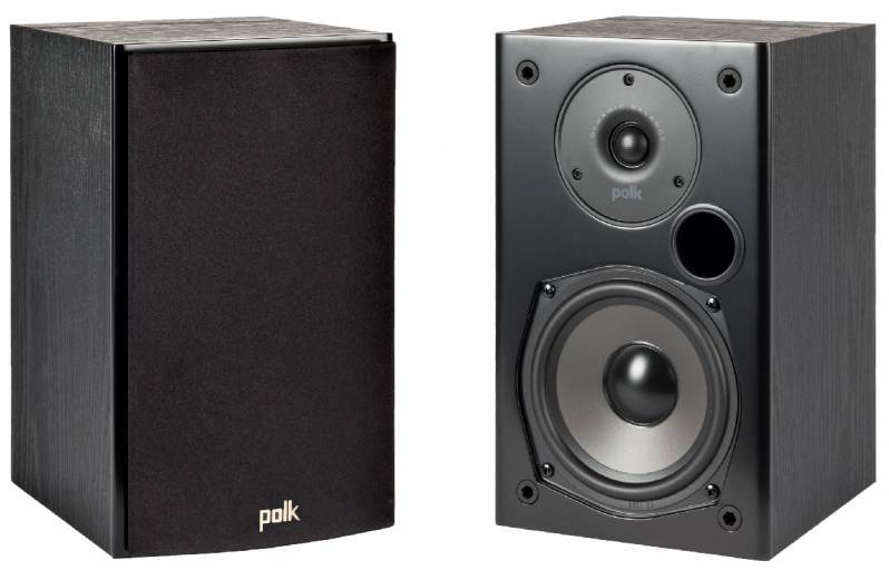 Polk T15 Bookshelf Speakers (Pair) Black