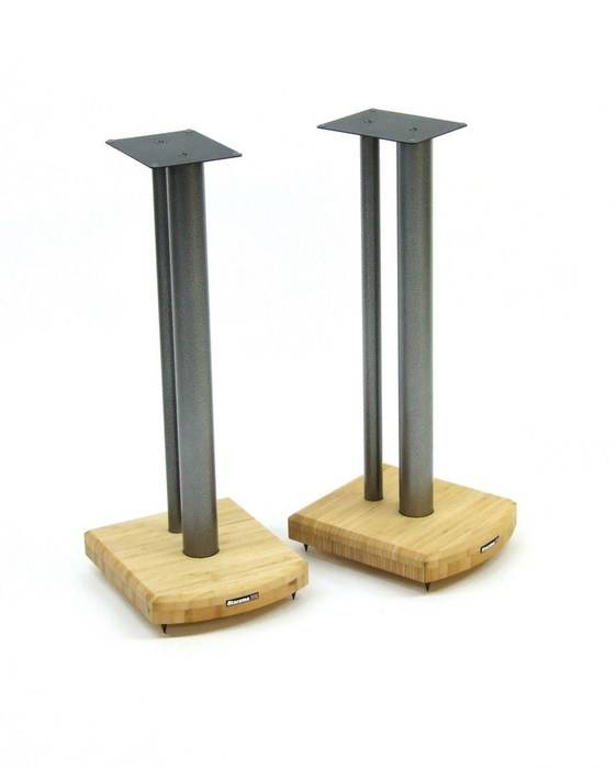 Atacama Moseco 10 Speaker Stands Natural Bamboo-Gloss Black Pole