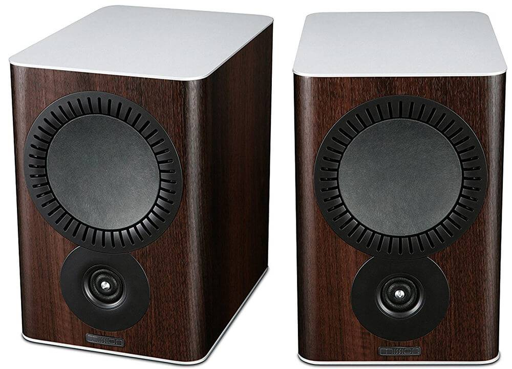 Mission QX-2 Bookshelf Speakers Walnut Pearl