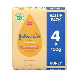 Johnsons Johnson's Baby Soap With Honey - 4 x 100g Bars