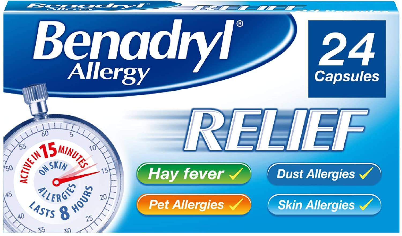 Benadryl Allergy Relief - 24 Capsules