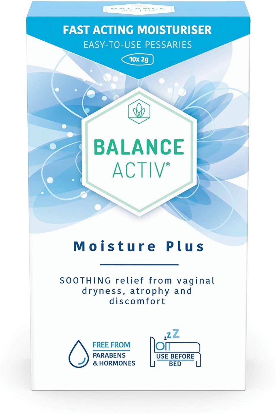Balance Activ Menopause Moisture Plus - 10 Pessaries