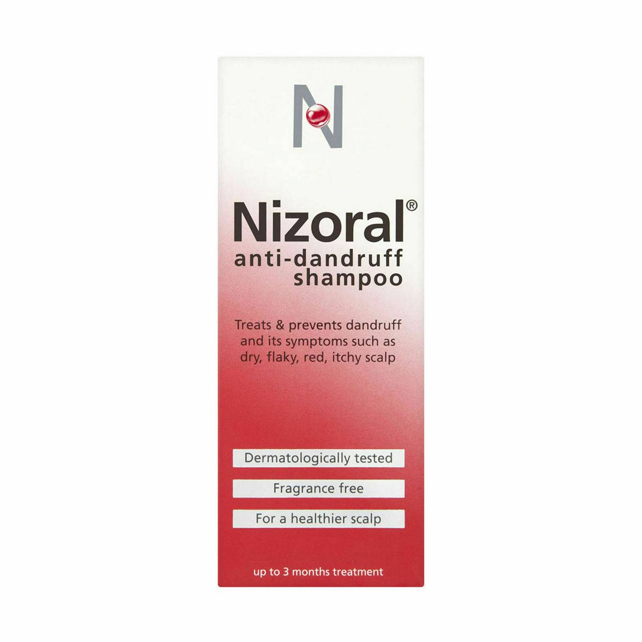 Nizoral Anti-dandruff Shampoo, Treats and Prevents Dandruff, Suitable for Dry Flaky and Itchy Scalp - 100ml