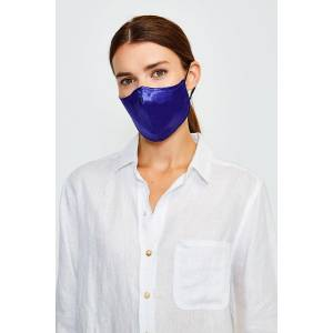 Karen Millen Reusable Fashion Print Face Mask With Filter -, Navy  - Size: One Size