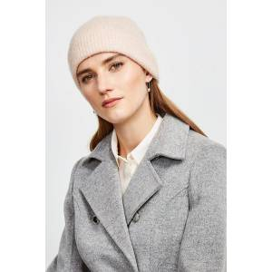 Karen Millen Super Soft And Cosy Hat -, Pink  - Size: One Size