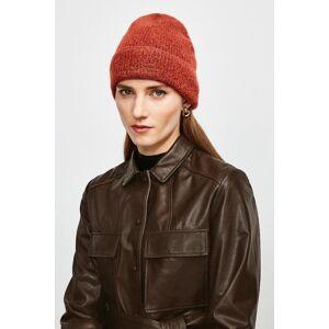 Karen Millen Super Soft And Cosy Hat -, Orange  - Size: One Size