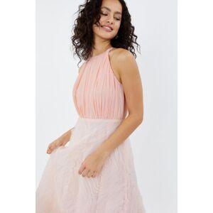 Coast 3D Textured Full Midi Bridesmaid Dress -, Pink  - Size: 14