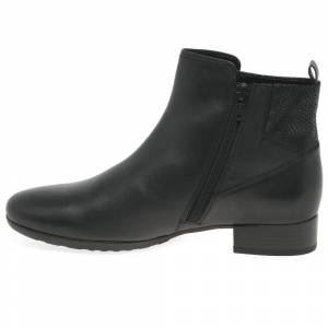 Gabor Bastia Womens Wide Fitting Ankle Boots Colour: Black Combi, Size