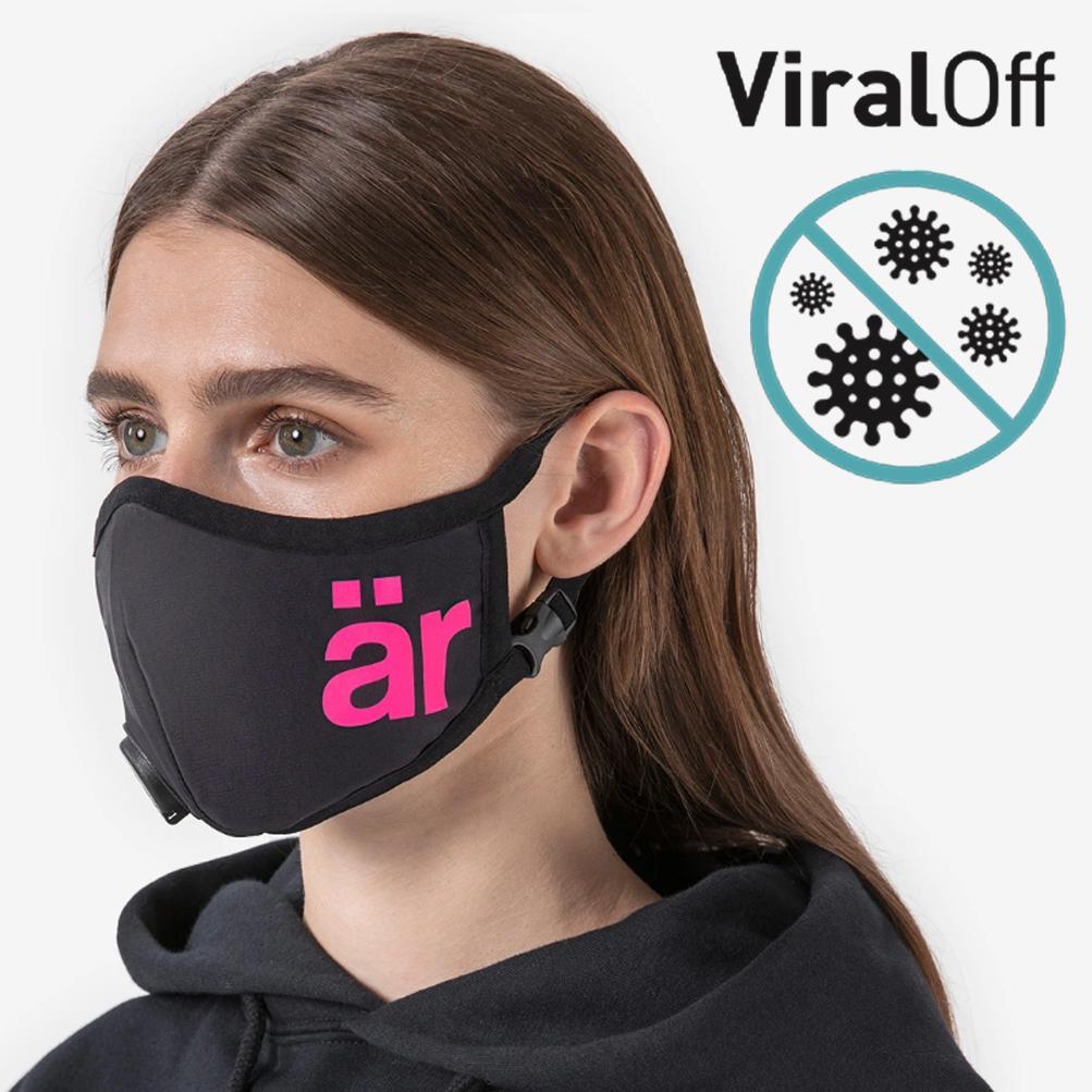 är face mask Self-cleaning Face Mask with Nano-Filter är Big logo Neon Pink