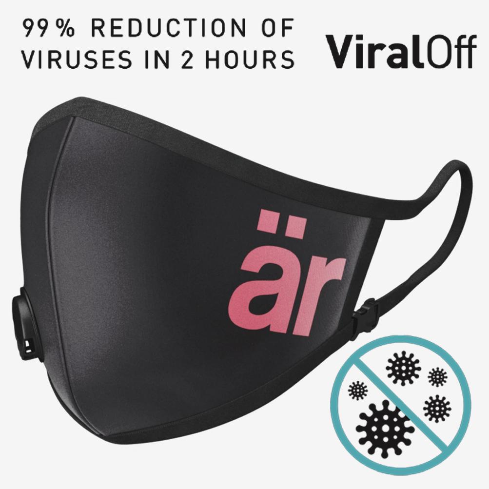 är face mask Self-cleaning Face Mask with Nano-Filter är Big logo Pink