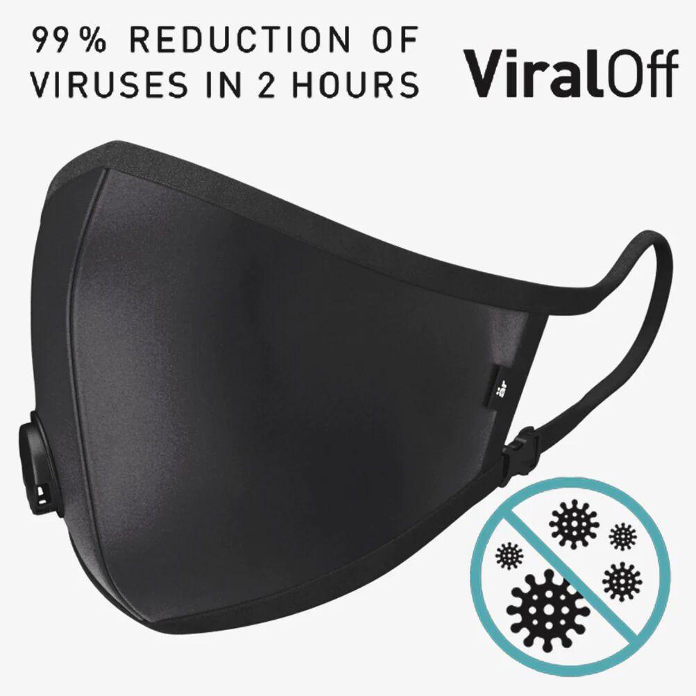 är face mask Self-cleaning Face Mask with Nano-Filter är Small logo Black