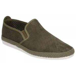 Flossy VENDAVAL Mens Perforated Slip On Plimsolls Khaki: EU 45 Size: E