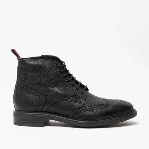 Base London BERKLEY Mens Leather Brogue Boots Black: EU 43 Size: EU 43