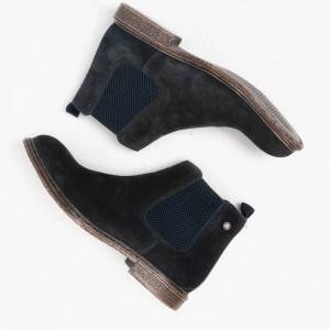 Base London FLINT Mens Suede Chelsea Boots Navy: EU 41