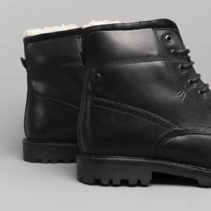 Base London MORTAR Mens Leather Ankle Boots Waxy Black: UK 7 Size: UK
