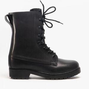 Grafters M9666A Unisex Leather Assault Boots Black: UK 5