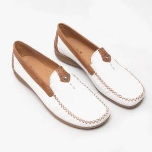 Gabor CALIFORNIA Ladies Leather Loafers White: UK 4
