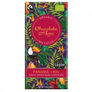 Chocolate and Love Chocolate-and-Love-Organic-80-percent-Dark-Chocolate-Panama-80g-Bar