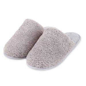 Isotoner Ladies Textured Fur Mule Slippers Grey UK Size 7