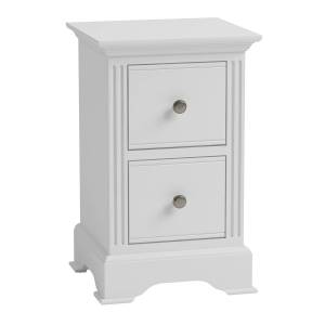 Charles Bentley Essentials Bedside Table In White