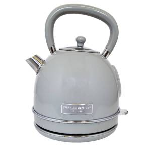 "Charles Bentley 3kW 1.7L Dome Kettle "" Cream & Grey Grey"