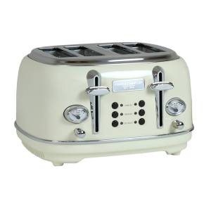 Charles Bentley 4 Slice Toaster Cream & Chrome