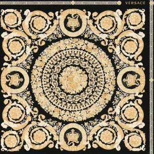 AS Creation Versace Heritage Tile Panel Wallpaper - Black and Gold - 37055-3 - 10m x 70cm