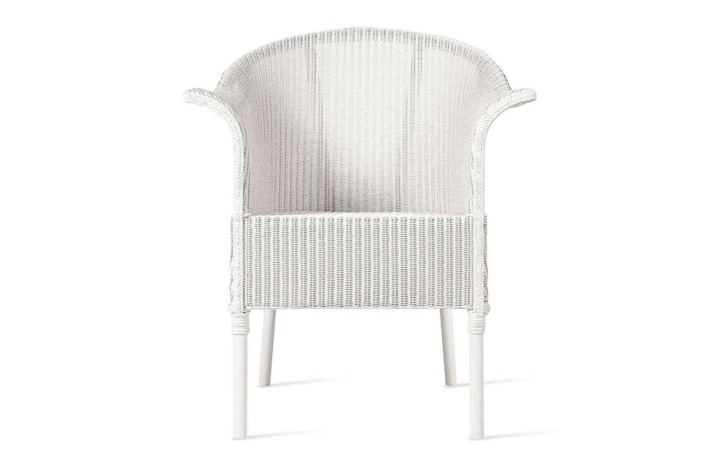 Vincent Monte Carlo Lloyd Loom Outdoor Dining Chair by Vincent Sheppard Oyster Zinc