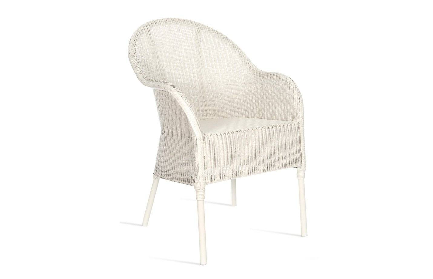 Vincent Nice Lloyd Loom Outdoor Dining Chair by Vincent Sheppard Nacre Zinc