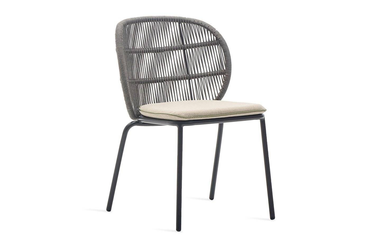 Vincent Kodo Rope Dining Side Chair by Vincent Sheppard Seat cushion - Taupe