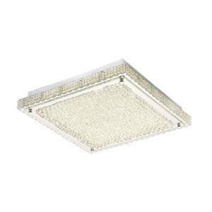 Inspired Lighting Flush Ceiling 21W 2100lm LED 4000K Stainless Steel, Crystal