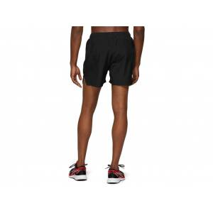 ASICS Silver 5in Short Performance Black Male Size XL